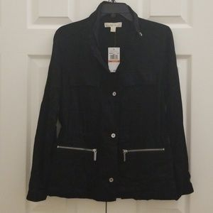 NWT  Michael Kors Spring black jacket